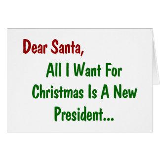 Liebe Sankt alle, die ich für Weihnachten will, Karte
