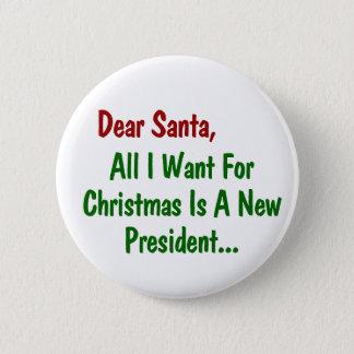Liebe Sankt alle, die ich für Weihnachten will, Runder Button 5,1 Cm
