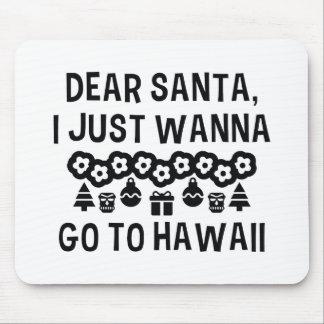 Liebe Sankt, die ich gerade will, um nach Hawaii Mauspads