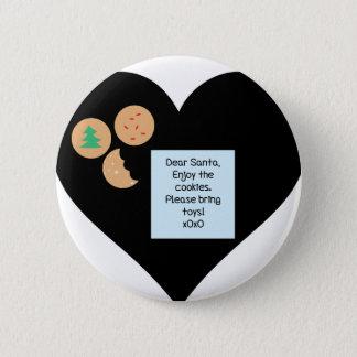Liebe Sankt - holen Sie bitte Spielwaren Runder Button 5,7 Cm