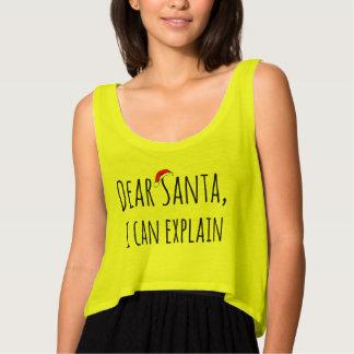 Liebe Sankt kann ich Weihnachtsfeiertags-Behälter Tank Top