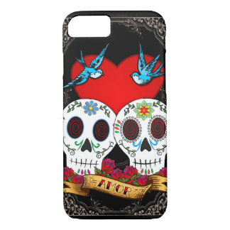 Liebe-Schädel iPhone 6 Case-Mate-Fall iPhone 8/7 Hülle