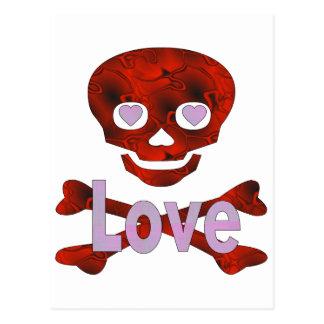 Liebe-Schädel Postkarte