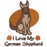 Liebe-Schäferhund Kapuzenpulli