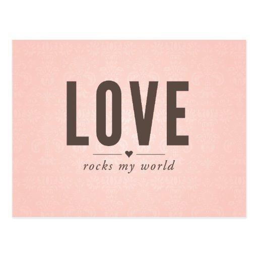 Liebe schaukelt meine WeltVintage Postkarte