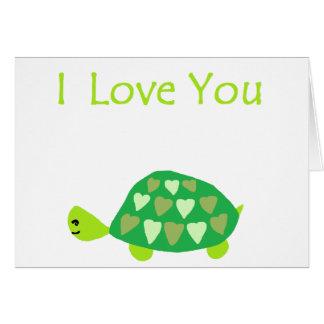 Liebe-Schildkröte Grußkarte