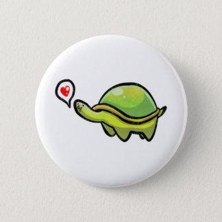 Liebe-Schildkröte Runder Button 5,1 Cm