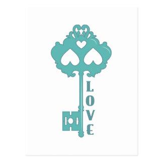 Liebe-Schlüssel Postkarte