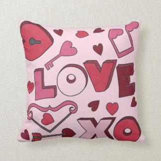 Liebe-Schlüssel zu meinen Herz-Mädchen scherzt Kissen