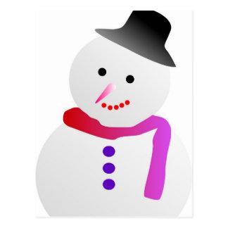 Liebe-Schneefall-Bild Postkarte