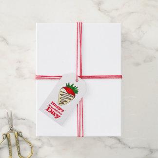 Liebe-Schokoladen-Erdbeergeschenk-Umbau des Geschenkanhänger