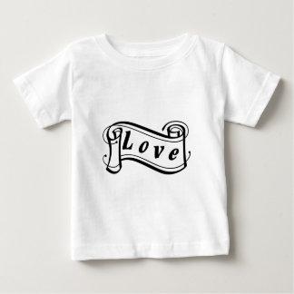 Liebe schwarz weiss Schriftrolle Baby T-shirt
