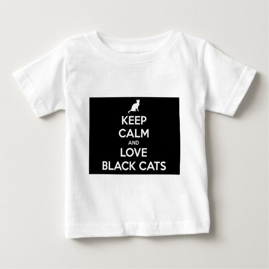 Liebe-schwarze Katzen Baby T-shirt