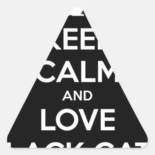 Liebe-schwarze Katzen Dreieckiger Aufkleber