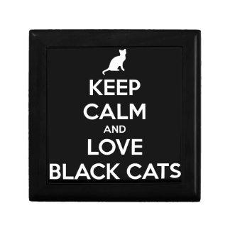 Liebe-schwarze Katzen Geschenkbox