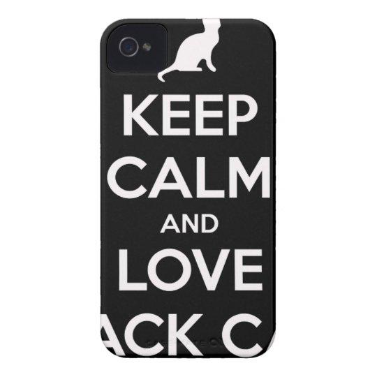 Liebe-schwarze Katzen iPhone 4 Cover