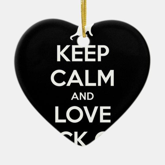 Liebe-schwarze Katzen Keramik Herz-Ornament
