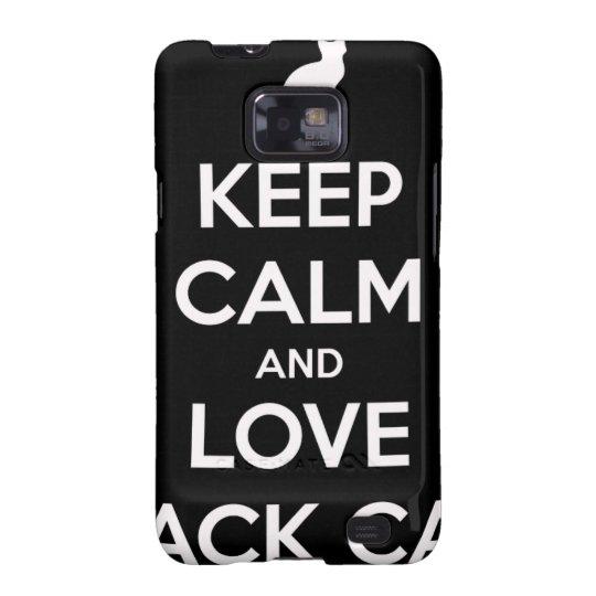 Liebe-schwarze Katzen Samsung Galaxy S2 Cover