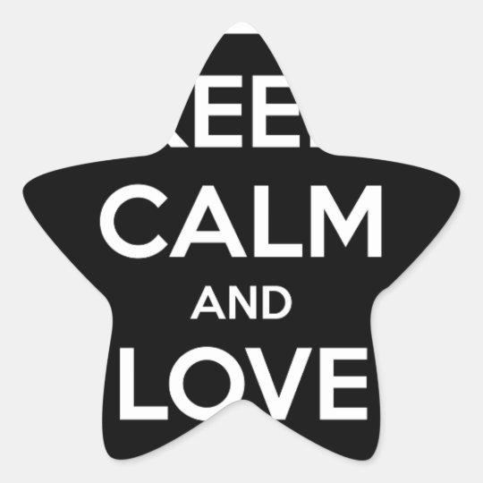 Liebe-schwarze Katzen Stern-Aufkleber