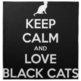 Liebe-schwarze Katzen Stoffserviette