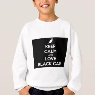 Liebe-schwarze Katzen Sweatshirt