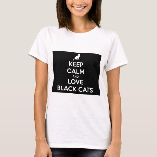 Liebe-schwarze Katzen T-Shirt