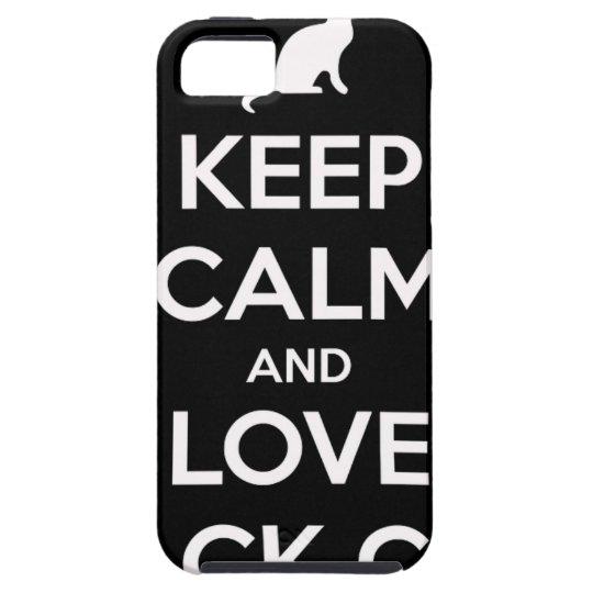 Liebe-schwarze Katzen Tough iPhone 5 Hülle