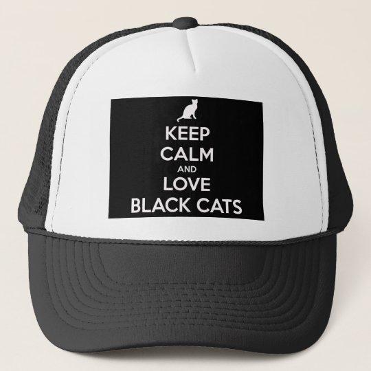 Liebe-schwarze Katzen Truckerkappe