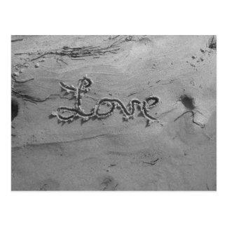 Liebe-schwarze u. weiße Postkarte
