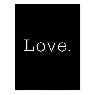Liebe. Schwarzweiss-Liebe-Zitat-Schablone Postkarte