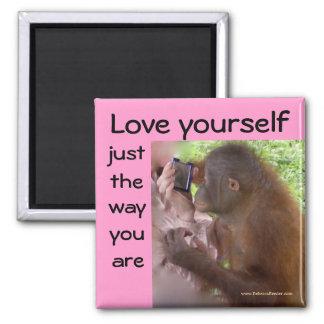 Liebe sich die Weise sind Sie Quadratischer Magnet