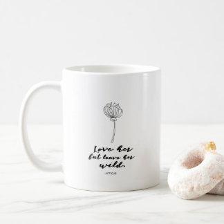 Liebe sie aber verlassen ihr wilden Blumen-Kaffee Tasse