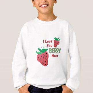 Liebe Sie Beere viel Sweatshirt