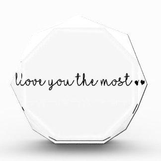 Liebe Sie die die meisten mit einfachem modernem Acryl Auszeichnung