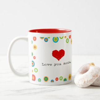 Liebe Sie grafischere Tasse