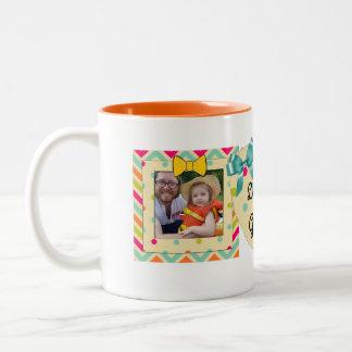 """""""Liebe Sie Großmutter-"""" Foto-Tasse orange, Zweifarbige Tasse"""