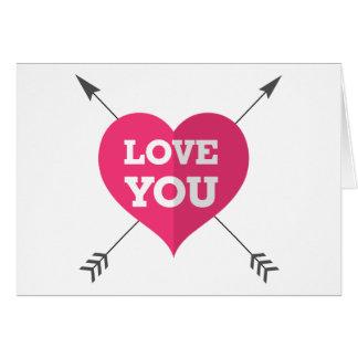 Liebe Sie Gruß-Karte Grußkarte