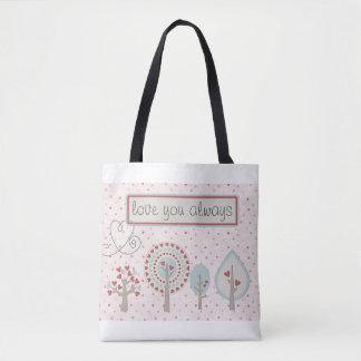 Liebe Sie immer Herz-Taschen-Tasche Tasche