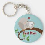 Liebe Sie Mamma-und Baby-Eulen Brown Schlüsselanhänger