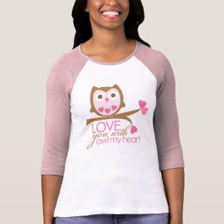 Liebe Sie mit EULE mein Herz T-Shirt