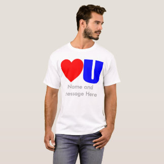 Liebe Sie Mitteilungs-T - Shirt für ihn
