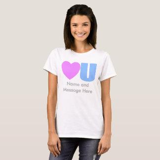 Liebe Sie Mitteilungs-T - Shirt für sie