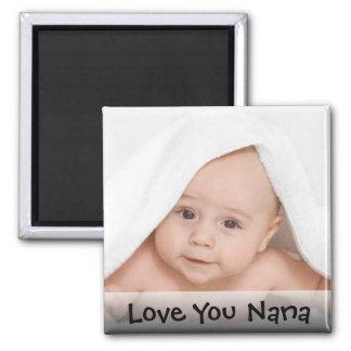 Liebe Sie Nana-Foto-Magnet Quadratischer Magnet