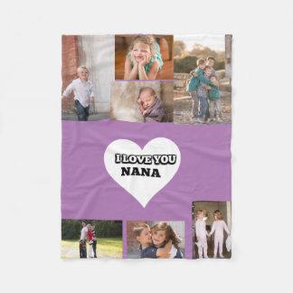 Liebe Sie Nana innerhalb eines Herzens Fleecedecke