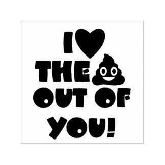 Liebe Sie Poo Gewohnheits-Briefmarke Permastempel