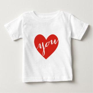 Liebe Sie, rotes Herz Baby T-shirt