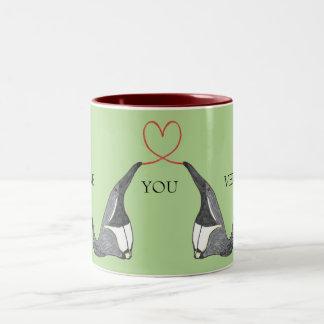 Liebe Sie Tasse mit niedlichen Anteaters