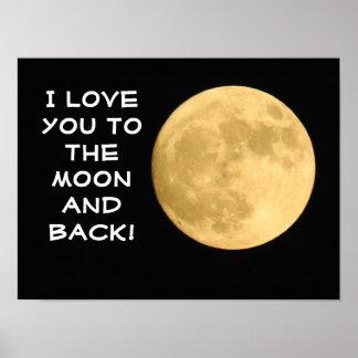 Liebe Sie zum Mond!  -- Kunst-Plakat/Druck Poster
