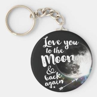 Liebe Sie zum Mond u. zur Rückseite wieder • Standard Runder Schlüsselanhänger
