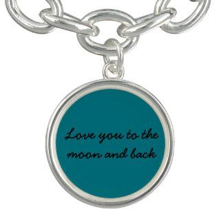 Liebe Sie zum Mond und zum hinteren Charme Armband